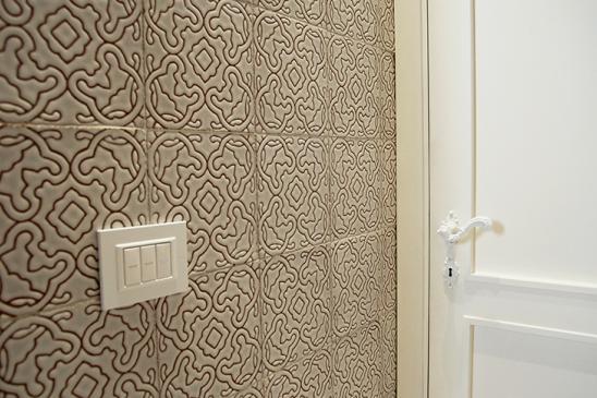 Detail of Cuerda Seca ceramic tiles