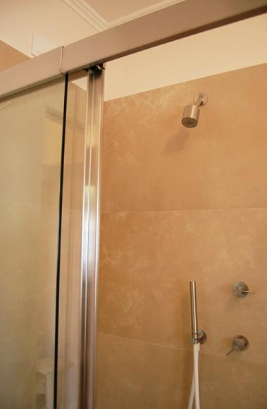 Bianchi e Fontana stainless steel shower stall